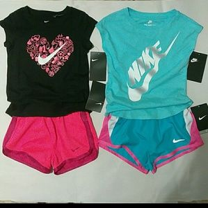 Little Girl's Nike Outfits, Two Sets, Size: 3T
